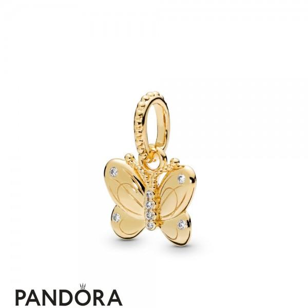 Pandora Shine Decorative Butterfly Necklace Pendant