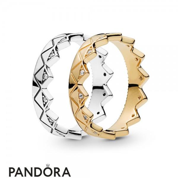 Pandora Shine Exotic Crown Ring Stack