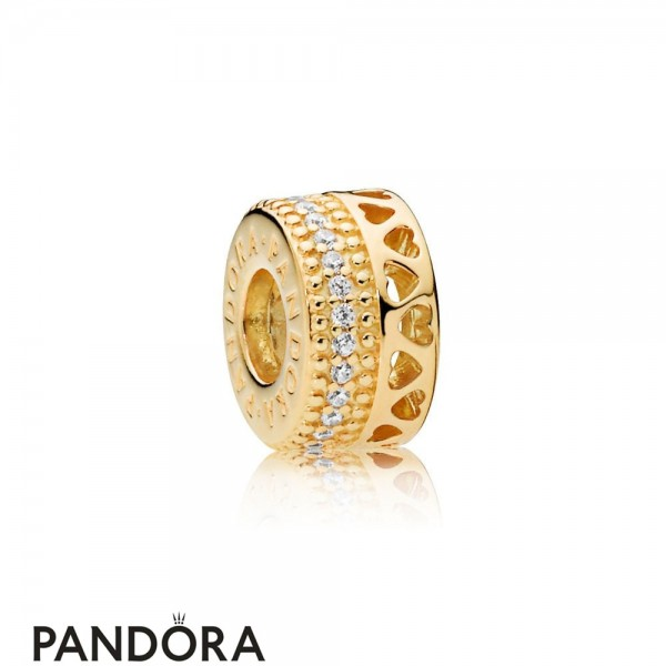Pandora Shine Hearts Of Pandora Spacer Charm