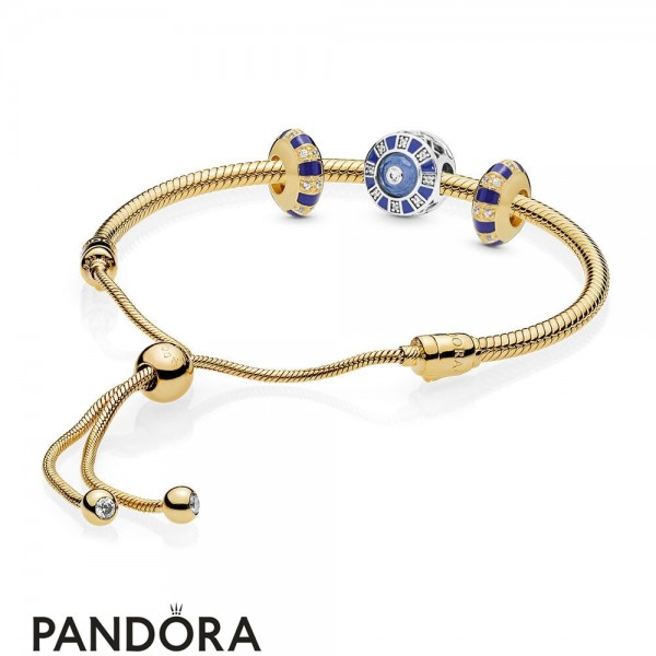 Pandora Shine Stones And Stripes Bracelet Set