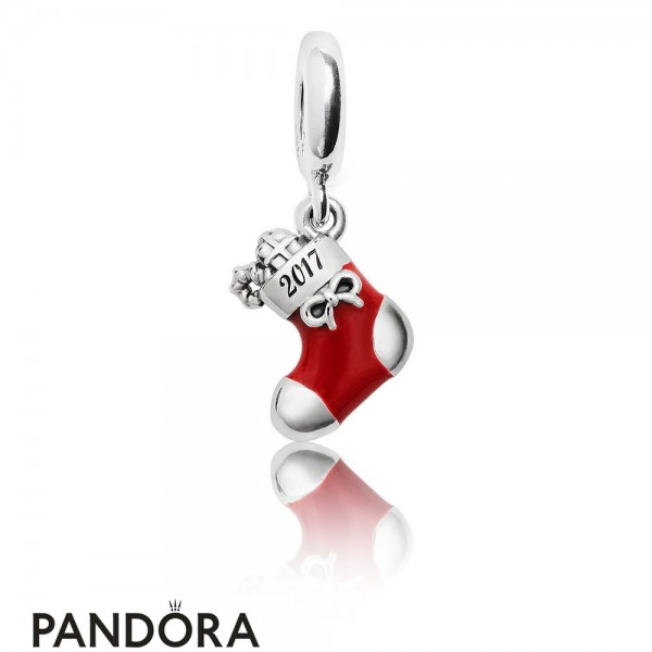 Pandora Winter Collection 2017 Engraved Christmas Stocking Limited Edition Charm