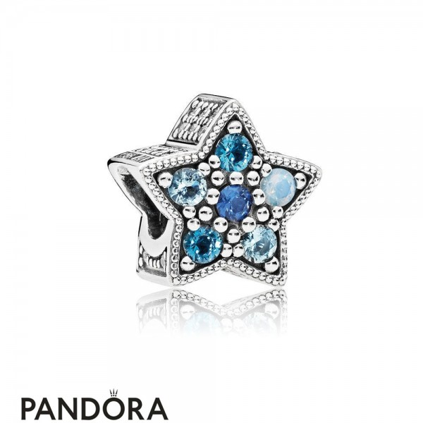 Pandora Winter Collection Bright Star Charm Multi Colored Crystals