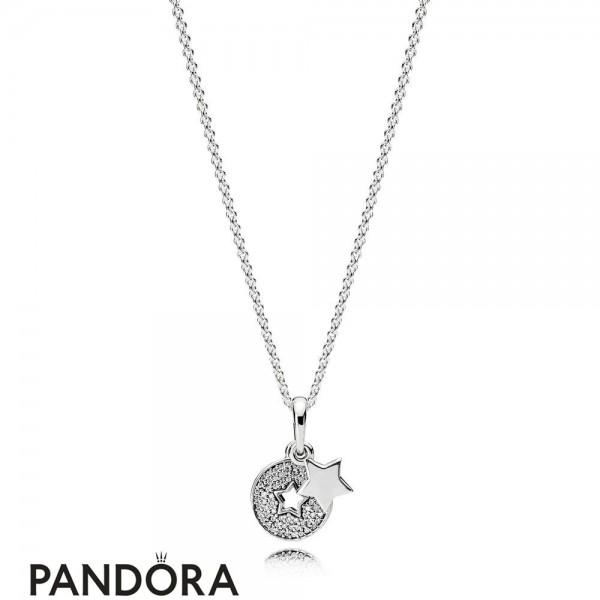 Pandora Winter Collection Celebration Stars Necklace