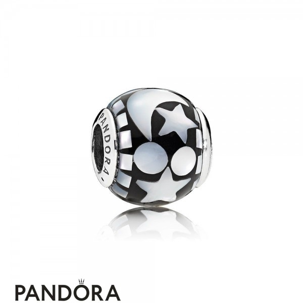Pandora Winter Collection Celestial Mosaic Charm Black Acrylic Mother Of Pearl