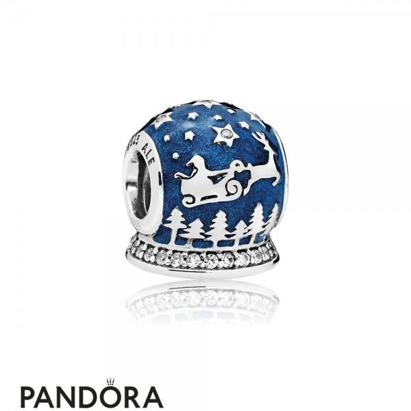 Pandora Winter Collection Christmas Night Charm Midnight Blue Enamel