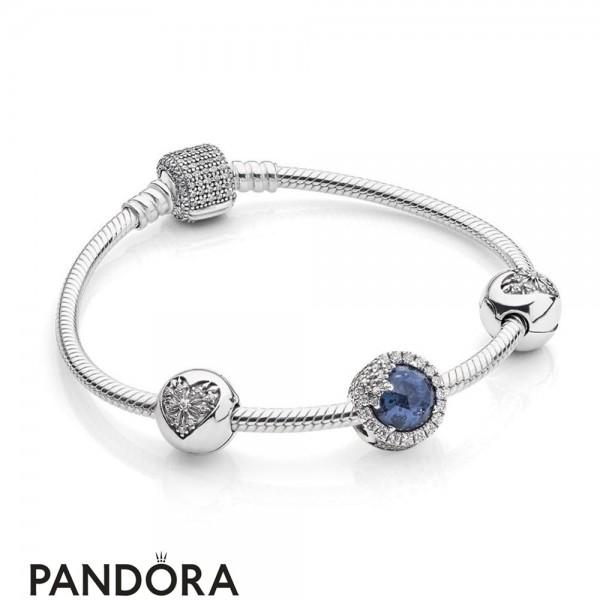 Pandora Winter Collection Dazzling Snowflake Bracelet Gift Set