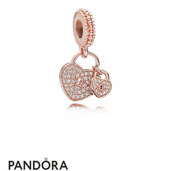 Pandora Pendants Pandora Love Locks Pendant Charm Rose Pendant